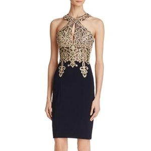 Avery G Embellished-Bodice Dress Size 0